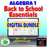 Algebra 1 Back to School Essentials Digital Bundle Distanc