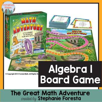 Algebra 1 Board Game - The Great Math Adventure