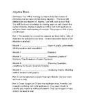 Algebra 1 Book Project