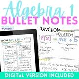 Algebra 1 Bullet Notes