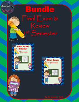 Algebra 1 Bundle: 1st Semester Final Exam & Review