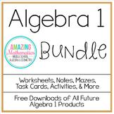 Algebra 1 Bundle ~ All My Algebra Products for 1 Low Price