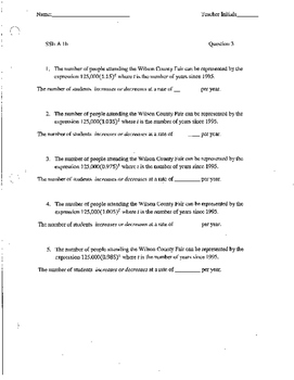 Algebra 1 CCSS Comprehensive Review 30 Pages of Questions