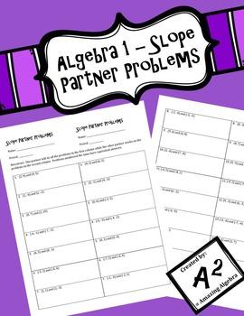 Algebra 1 - Calculating Slope Partner Problems