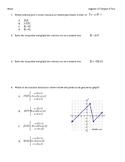 Algebra 1 Ch. 4 Test Inequalities, Absolute Value, Piecewi