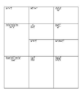 Algebra 1 Ch1 L6 Note Sheet - Exponents