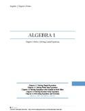 Solving Linear Equations~Alg 1 Ch 1 Student Notes~Big Idea
