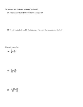 Algebra 1 Chapter 2 Test Solving Linear Equations & Inequalities