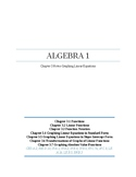 Graphing Linear Equations~Alg 1 Chapter 3 Student Notes~Bi