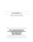Writing Linear Equations~Alg 1 Ch 4 Student Notes~Big Idea