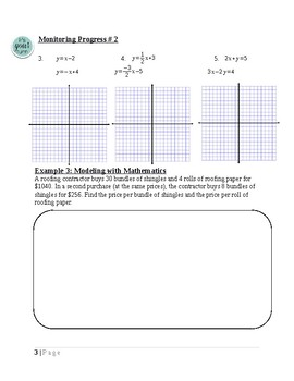 Solving Systems~Algebra 1 Ch 5 Student Notes~Big Ideas Aligned
