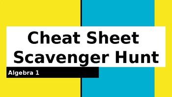 Algebra 1 Cheat Sheet Scavenger Hunt
