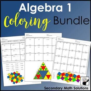 Algebra 1 Coloring Activities Bundle