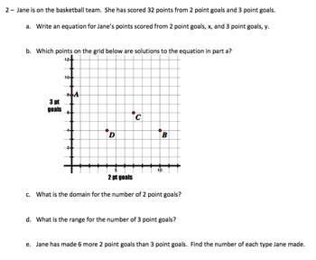 Algebra 1 Common Core (Air) Style Questions CH 5, 6, 7