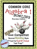 Algebra 1 Common Core Bowling Review Game