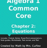 Algebra 1 Common Core Chapter 2 Equations