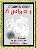Algebra 1 Common Core Mini Quizzes (End-of-Course Test Prep)