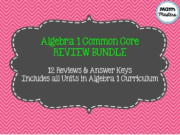 Algebra 1 Common Core Review Bundle