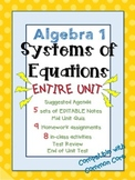 Algebra 1 Common Core Systems of Equations (Entire Unit)