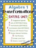 Algebra 1 Common Core Transformations ENTIRE UNIT BUNDLE