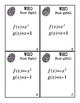 Algebra 1 Composite Functions Task Cards: Who Dunnit Game