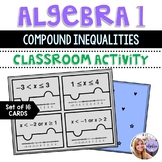 Algebra 1 - Compound Inequalities Game Puzzles with Answer Key