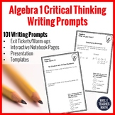 Algebra 1 Writing in Math Prompts