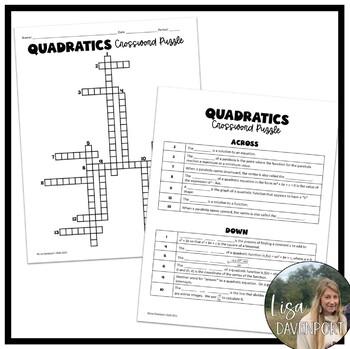 math worksheet : algebra 1 crossword puzzle bundle by lisa davenport  tpt : Algebra Crossword Puzzle