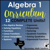 Algebra 1 Curriculum (Texas TEKS Aligned)