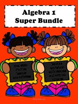 Algebra 1 Curriculum:Super Bundle No Prep Lessons (600+ Pages)