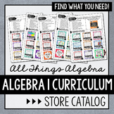 Algebra 1 Curriculum Store Catalog - All Things Algebra®