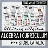 Algebra 1 Curriculum Store Catalog - All Things Algebra®