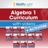 Algebra 1 Curriculum with Videos + ACTIVITIES Bundle  Good