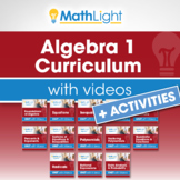 Algebra 1 Curriculum with Videos + ACTIVITIES Bundle| Good