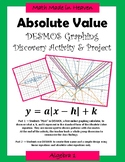 Algebra 1 - DESMOS GRAPHING PROJECT - Absolute Value Equations - Name Design