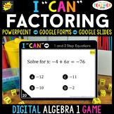 Algebra 1 DIGITAL Game | Factoring Quadratics | Distance Learning