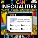 Algebra 1 DIGITAL Game | Linear Inequalities & Systems of
