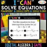 Algebra 1 DIGITAL Game | Solving Equations | Distance Learning