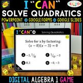 Algebra 1 DIGITAL Game | Solving Quadratics | Factoring, S