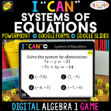 Algebra 1 DIGITAL Game | Solving Systems of Equations | Di
