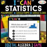 Algebra 1 DIGITAL Game   Statistics   Distance Learning