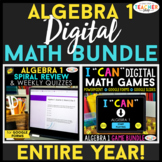 Algebra 1 DIGITAL Math BUNDLE | Google Classroom | Spiral