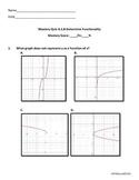 Algebra 1 Determine Functionality Mastery Quiz TEKS.A.1.B