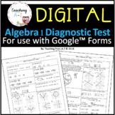 Algebra 1 Diagnostic Test - Self Grading and Full Solutions