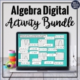 Algebra 1 Digital Activity Bundle for Distance Learning