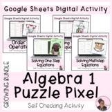 Algebra 1 Digital Mystery Puzzle Pixel Activities