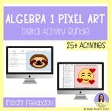 Algebra 1 Digital Pixel Art Bundle - GROWING