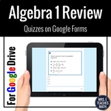 Algebra 1 Digital Review Google Forms