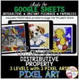 Google Sheets Digital Pixel Art Math Distributive Property