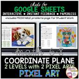 Google Sheets Digital Pixel Art Math Identifying Points on